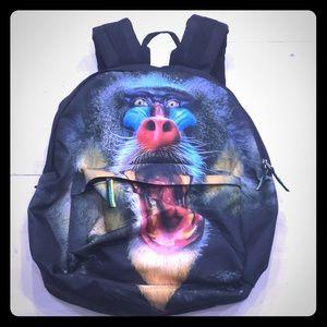 U. T. Wave baboon printed laptop book bag
